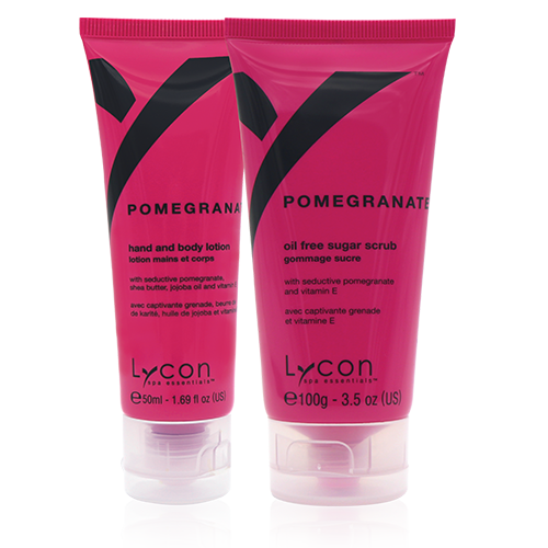 Pomegranate Oil Free Sugar Scrub and Hydrating Lotion Set